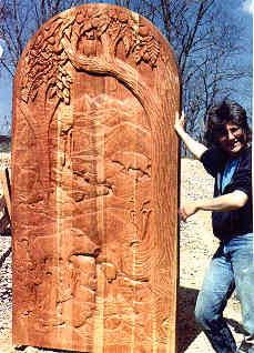 Cherry door by Stephan Vinyarsky; Jan is holding it up